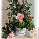 Pink rose Interior arrangement. Composition. Skaskilesa. Online shopping on My Livemaster.  Фото №2