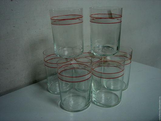 Винтажная посуда. Ярмарка Мастеров - ручная работа. Купить Советские тонкие стаканы.. Handmade. Белый, винтаж, стеклянный