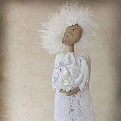 """Куклы и игрушки ручной работы. Ярмарка Мастеров - ручная работа """"Ангел мир хранящий"""" - авторская кофейная куколка. Handmade."""