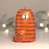 Подарки к праздникам handmade. Livemaster - original item Christmas toy cat Tyup. Handmade.