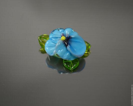Для украшений ручной работы. Ярмарка Мастеров - ручная работа. Купить Цветок крупный лампворк лэмпворк, аквамарин. Handmade.