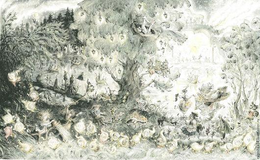 Фантазийные сюжеты ручной работы. Ярмарка Мастеров - ручная работа. Купить Волшебный холм. Бал. Handmade. Бал, Праздник