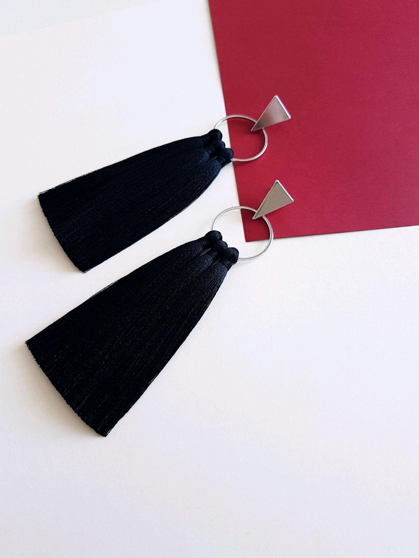 Dark tassel earrings, Tassel earrings, Ufa,  Фото №1