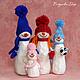 Новый год 2017 ручной работы. Ярмарка Мастеров - ручная работа. Купить Снеговик и его семья. Handmade. Снеговик, новогодние игрушки