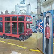 """Дизайн ручной работы. Ярмарка Мастеров - ручная работа Интерьерная роспись """"Лондон"""". Handmade."""