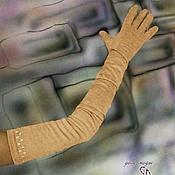 """Аксессуары ручной работы. Ярмарка Мастеров - ручная работа Перчатки из трикотажной замши очень длинные """"Беж"""" и другие цвета. Handmade."""