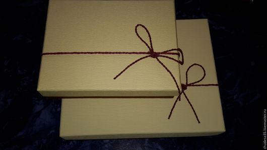 Подарочная упаковка ручной работы. Ярмарка Мастеров - ручная работа. Купить Подарочные коробки Шоколад. Handmade. Комбинированный, картон, карточки