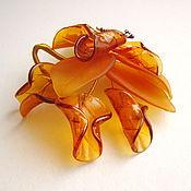 Для дома и интерьера ручной работы. Ярмарка Мастеров - ручная работа Медовая лилия, муранское стекло. Handmade.