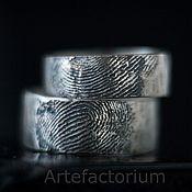 Свадебный салон ручной работы. Ярмарка Мастеров - ручная работа Обручальные кольца с Вашими отпечатками пальца. Handmade.