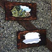 Для дома и интерьера ручной работы. Ярмарка Мастеров - ручная работа коричневое настенное деревянное зеркало «Свет мой зеркальце скажи». Handmade.