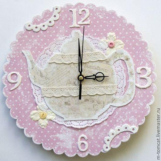 """Часы для дома ручной работы. Ярмарка Мастеров - ручная работа. Купить Часы """"чайничек"""". Handmade. Часы настенные, часы для детской"""