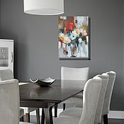 """Картины и панно ручной работы. Ярмарка Мастеров - ручная работа Картина маслом """"Букет """" 40х30 цветы,розы, картина с розами,натюрморт. Handmade."""
