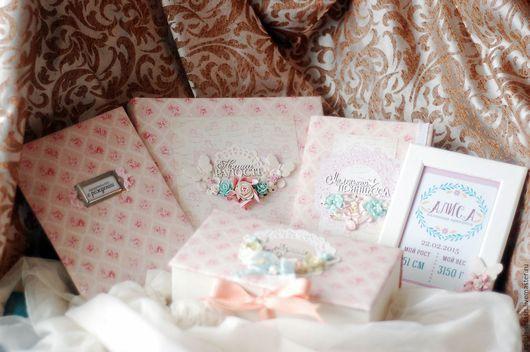 Подарки для новорожденных, ручной работы. Ярмарка Мастеров - ручная работа. Купить Детский набор для девочки Нежнее нежного. Handmade. Розовый