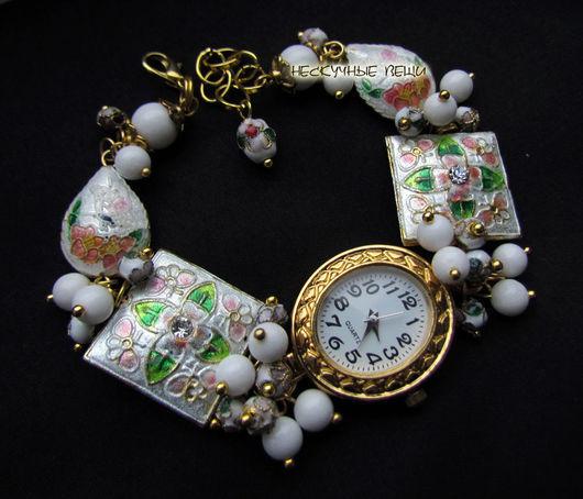 """Часы ручной работы. Ярмарка Мастеров - ручная работа. Купить """"Сказка""""-24 наручные часы с бусинами клуазоне. Handmade. Часы"""