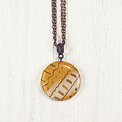 Украшения handmade. Livemaster - original item Pendant polymer clay necklace - Golden autumn. Handmade.