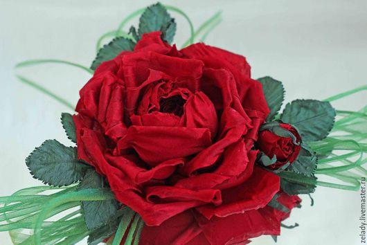 """Цветы ручной работы. Ярмарка Мастеров - ручная работа. Купить Роза из шелка  """"by Dolce & Gabbana"""". Handmade."""