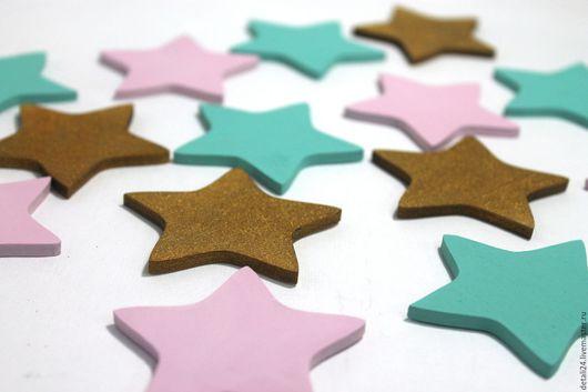 """Детская ручной работы. Ярмарка Мастеров - ручная работа. Купить Декор для детской """"Звезды"""". Handmade. Мятный, нежно-розовый, звездочки"""