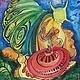 Абстракция ручной работы. Ярмарка Мастеров - ручная работа. Купить Гламуррррные улитки..;) смешанная техника. (авторская работа). Handmade.