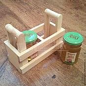 Материалы для творчества ручной работы. Ярмарка Мастеров - ручная работа Деревянный подарочный ящик для меда и варенья. Handmade.