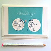 """Открытки ручной работы. Ярмарка Мастеров - ручная работа """"Свадьба"""". Handmade."""