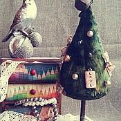 Подарки к праздникам ручной работы. Ярмарка Мастеров - ручная работа Елка из плюша в винтажном стиле.... Handmade.