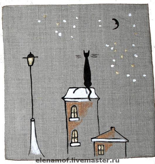 Текстиль, ковры ручной работы. Ярмарка Мастеров - ручная работа. Купить Подушка Песни под луной. Handmade. Подушка