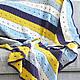 Текстиль, ковры ручной работы. Ярмарка Мастеров - ручная работа. Купить Большой полосатый плед. Handmade. Пледик, серый
