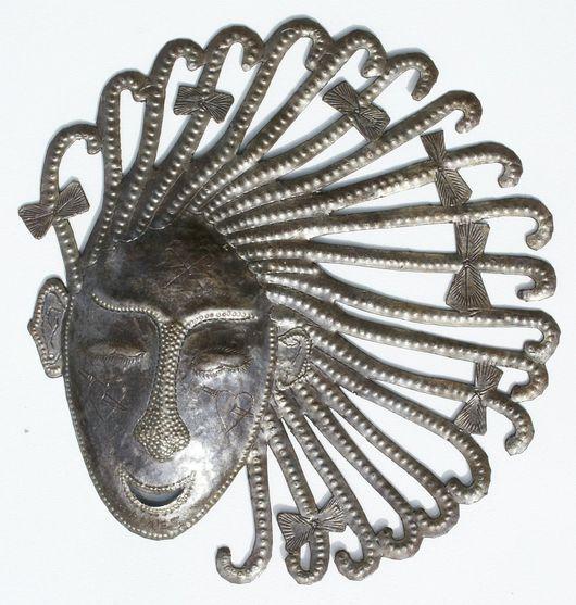 Элементы интерьера ручной работы. Ярмарка Мастеров - ручная работа. Купить Декоративная маска, ручная работа, резьба по металлу, 27см. Handmade.