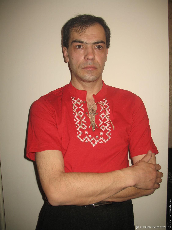 Футболка с вышивкой, Народные рубахи, Старый Оскол,  Фото №1