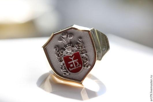 Кольца ручной работы. Ярмарка Мастеров - ручная работа. Купить Фамильный перстень. Handmade. Перстень, фамильные украшения, разноцветный, эмаль