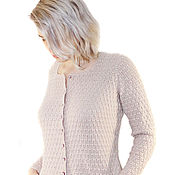 Одежда handmade. Livemaster - original item Jacket knitted cashmere Haze handmade. Handmade.