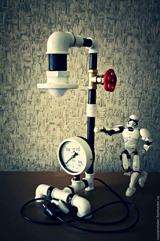 Освещение ручной работы. Ярмарка Мастеров - ручная работа. Купить Светильник из труб. Handmade. Светильник, освещение ручной работы