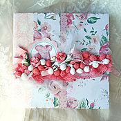 Фотоальбомы ручной работы. Ярмарка Мастеров - ручная работа Альбом для новорожденной девочки. Handmade.