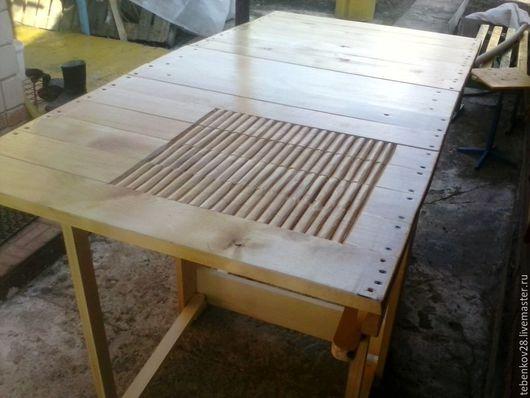 Валяние ручной работы. Ярмарка Мастеров - ручная работа. Купить Стол раскладной для валяния. Handmade. Мятный, стол, берёза