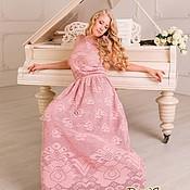"""Одежда ручной работы. Ярмарка Мастеров - ручная работа """"Античная Роза"""" Филейное вязаное крючком платье с розами. Handmade."""