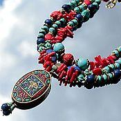 Украшения handmade. Livemaster - original item Arabesque - necklaces surround Oriental large pendant. Handmade.