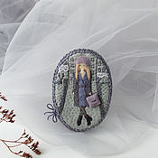 Украшения handmade. Livemaster - original item Once upon a time there was a Foggy day with A lavender tint. brooch felt. Handmade.