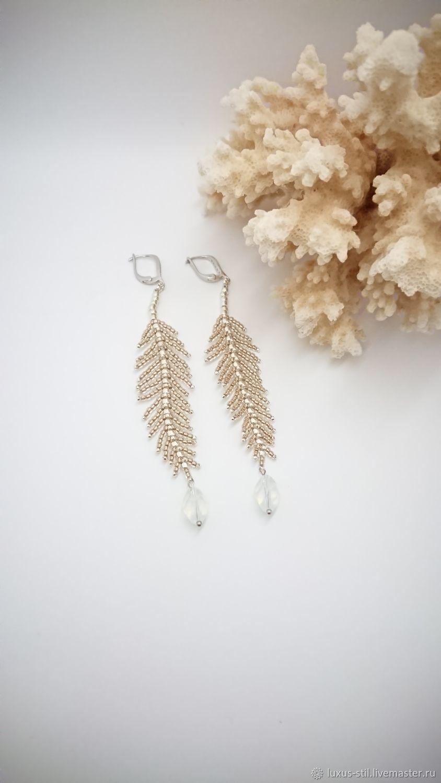 Long Feather earrings, Earrings, Podolsk,  Фото №1
