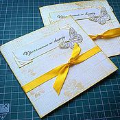 Свадебный салон ручной работы. Ярмарка Мастеров - ручная работа Свадебные приглашения для цветной свадьбы. Handmade.