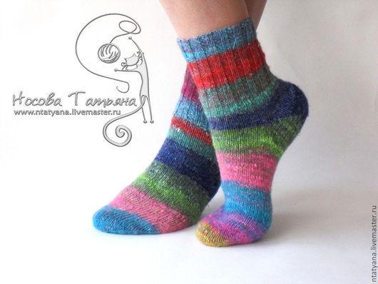 Носки, Чулки ручной работы. Ярмарка Мастеров - ручная работа. Купить Носки Цветные сны. Handmade. Носки, носки теплые
