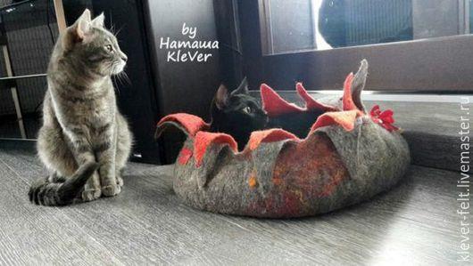"""Аксессуары для кошек, ручной работы. Ярмарка Мастеров - ручная работа. Купить """"Огненый цветок"""" - домик для кота, домик для собачки (будка))). Handmade."""