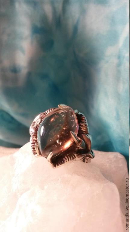"""Кольца ручной работы. Ярмарка Мастеров - ручная работа. Купить Кольцо """"Сказочник"""" с Раухтопазом в серебре.. Handmade. Серебряный, оберег"""