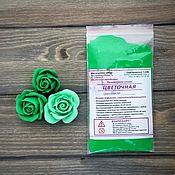 """Глина ручной работы. Ярмарка Мастеров - ручная работа Полимерная глина """"Цветочная"""" Цвет зеленый 25гр. Handmade."""