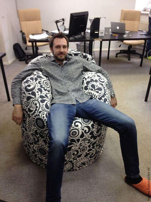 """Мебель ручной работы. Ярмарка Мастеров - ручная работа. Купить Кресло-мешок """"Серые огурцы"""". Handmade. Серый, огурцы"""