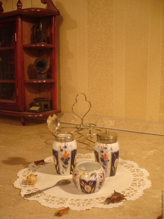 Винтажная посуда. Ярмарка Мастеров - ручная работа. Купить Старинный фарфоровый набор для специй!!!. Handmade. Старинный набор, набор для специй