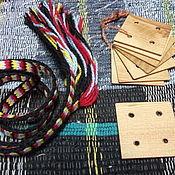 Материалы для творчества ручной работы. Ярмарка Мастеров - ручная работа дощечки для ткачества из дерева. Handmade.