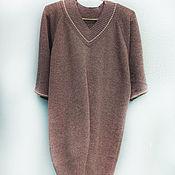 Платья ручной работы. Ярмарка Мастеров - ручная работа Платье вязанное цвет какао. Handmade.