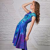 Одежда ручной работы. Ярмарка Мастеров - ручная работа Платье  ручной работы из шерсти и шелка. Handmade.