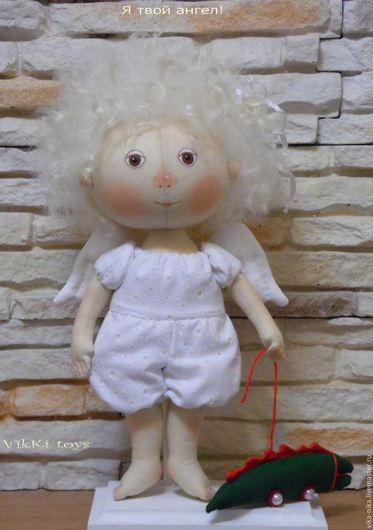 Коллекционные куклы ручной работы. Ярмарка Мастеров - ручная работа. Купить Я буду твоим ангелом!. Handmade. Белый, подарок