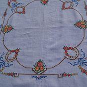 Винтаж handmade. Livemaster - original item Vintage tablecloth with embroidery. Handmade.
